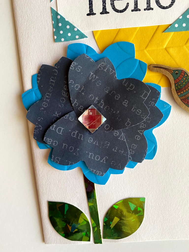 Scrapbook Flower Made with Heart Punch