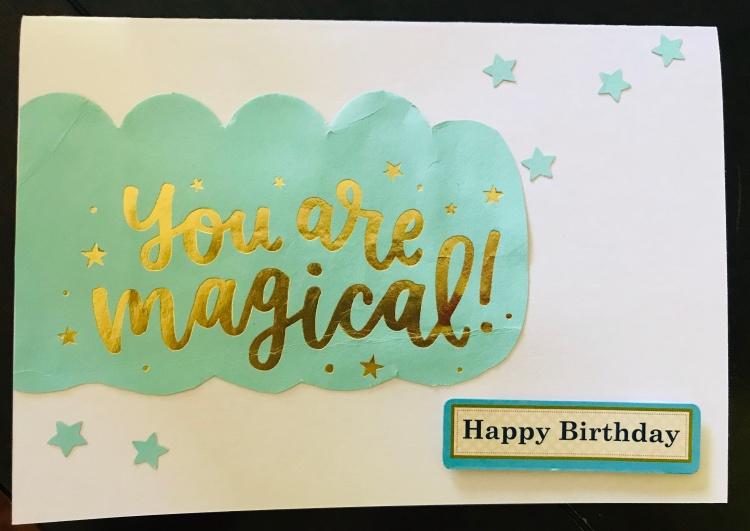 Magical Phrase Happy Birthday Card