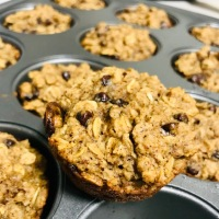Protein Packed Oatmeal Chocolate Chip Muffins