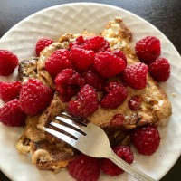 Raspberry French Toast for One